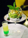 Cocktail green mexican with dessert Stock Photography