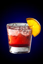 Cocktail with grenadine juice and lemon delicius Royalty Free Stock Photos