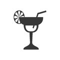 Cocktail icon. Drink design. Vector graphic Royalty Free Stock Photo