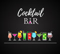 Cocktail icons. Cocktail menu