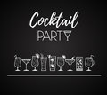 Cocktail icons. Different kinds of glasses