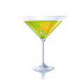 Cocktail with lemon and orange green Royalty Free Stock Image