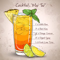 Cocktail Mai Tai Royalty Free Stock Photo