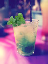 Cocktail mojito with a nice background Royalty Free Stock Photo