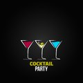 Cocktail party glass design menu background eps Stock Photos