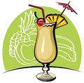 Cocktail pina colada Royalty Free Stock Images