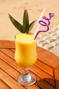 Pineapple and mango juice Royalty Free Stock Photo