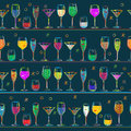 Cocktail's pattern design Royalty Free Stock Images