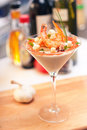 Cocktail with seafoods Royalty Free Stock Image