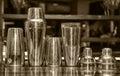 Cocktail shaker, bar Royalty Free Stock Photo