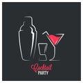Cocktail shaker design background