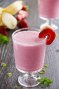 Cocktail strawberry and banana Royalty Free Stock Photo