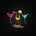 Cocktail summer party design menu background Royalty Free Stock Photo