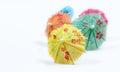 Cocktail umbrellas Royalty Free Stock Photo