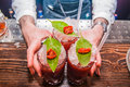 Three Bloody Mary Cocktails Royalty Free Stock Photo