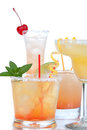Cocktails drinks beverages mojito tropical Martini Royalty Free Stock Photo