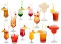 Cocktails getrennt Stockfotos