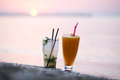Cocktails at sunset Royalty Free Stock Photo