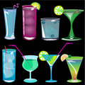 Cocktails vector illustration Royalty Free Stock Photos