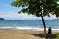Coco beach bahia papagayo gulf costa rica central america Royalty Free Stock Photo