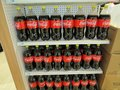 Coco Cola Beverage Bottles Displayed For Sale Inside A Grocery Store, 2018, Editorial Royalty Free Stock Photo