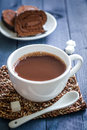 Cocoa drink in a white cup Royalty Free Stock Photography
