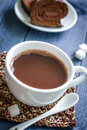 Cocoa drink in a white cup Royalty Free Stock Images