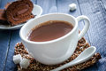 Cocoa drink in a white cup Stock Photography