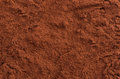 Cocoa powder top close up background Royalty Free Stock Photography