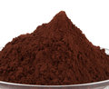 Cocoa powder white Stock Photo