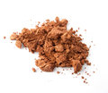 Cocoa powder on white background Stock Image