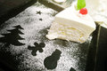 Coconut cake for holidays and christmas Royalty Free Stock Images