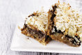 Coconut Chocolate Chip Bars Stock Images