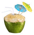 Coconut cocktail Stock Images