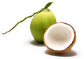 Coconut with coconut milk Royalty Free Stock Photo