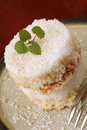 Coconut cream cake Royalty Free Stock Photo
