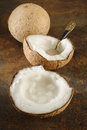 Coconut creamed Royalty Free Stock Photo