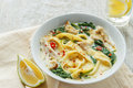 Coconut Curry Chicken Soup with noodles in a plate Royalty Free Stock Photo