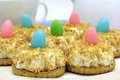 Coconut easter cakes Stock Images