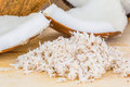 Coconut flesh and grated coconut iii Stock Images