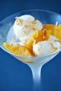 Coconut gelato Stock Images