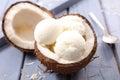 Coconut ice cream Royalty Free Stock Photo