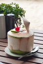 Coconut juice Stock Photo