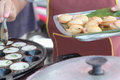 Coconut milk mix sugar and flour kind of thai sweetmeat Stock Photography