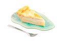 Coconut pie isolated on white Stock Photography
