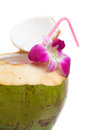 Coconut water drink. Royalty Free Stock Photo
