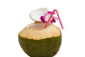 Coconut water drink. Royalty Free Stock Photography
