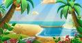 The Coconuts Tree Beach Royalty Free Stock Photo