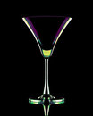 Coctail glass in neon colors Royalty Free Stock Photo