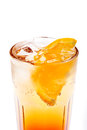 Coctail with orange isolated on white background Stock Images